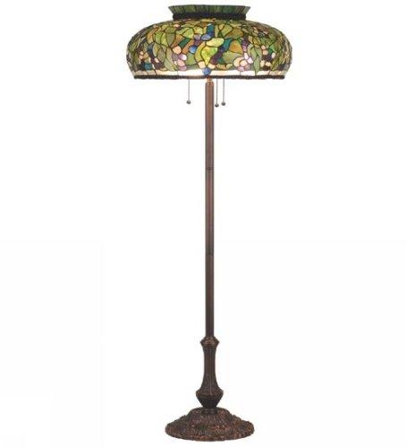 Meyda tiffany custom lighting 98979 grape 3 light floor for Floor lamp with plum shade