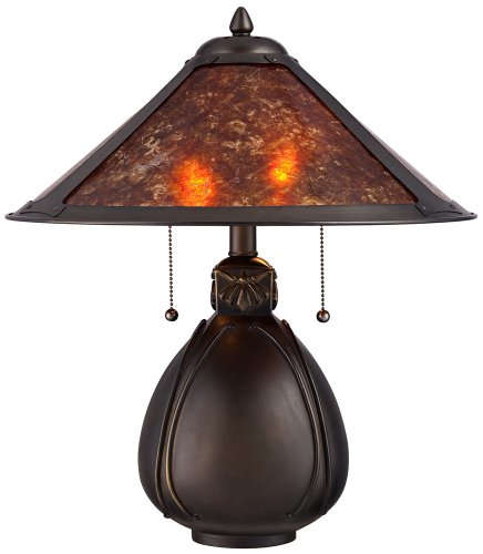 Lamp Plus Stores: Nell Arts And Craft Pottery Mica Shade Table Lamp